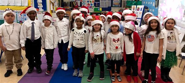Ms. Gennusa's Class before the Christmas show.