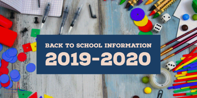 2019 Welcome Back To School Letters