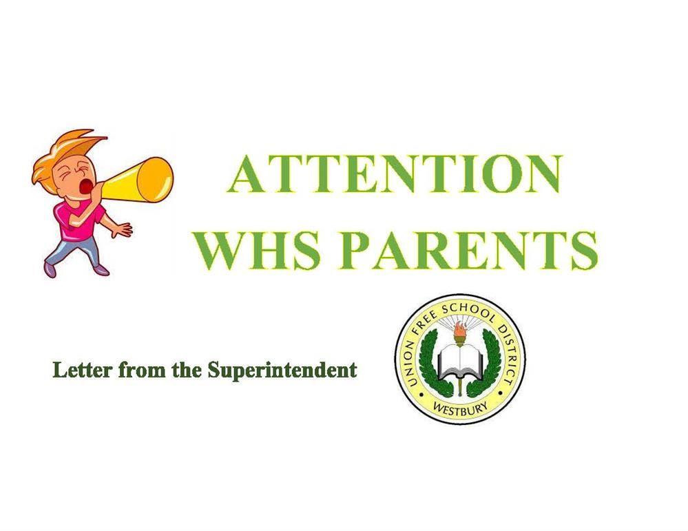 Letter to WHS Parents