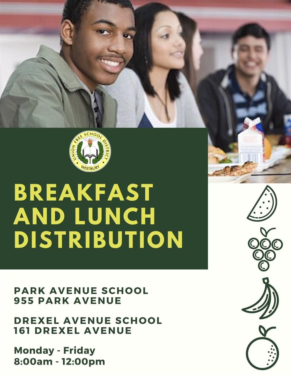 Food Distribution at PARK AVENUE and DREXEL AVENUE SCHOOLS
