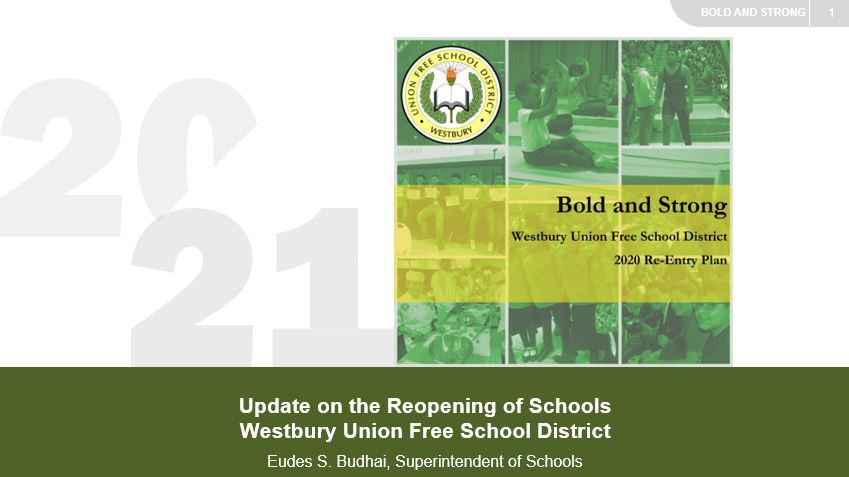 Westbury Bold and Strong Reentry BOE Update 10.16.20